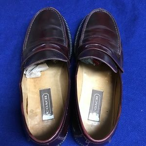 Coach Men's Burgundy Shoes- Size 8